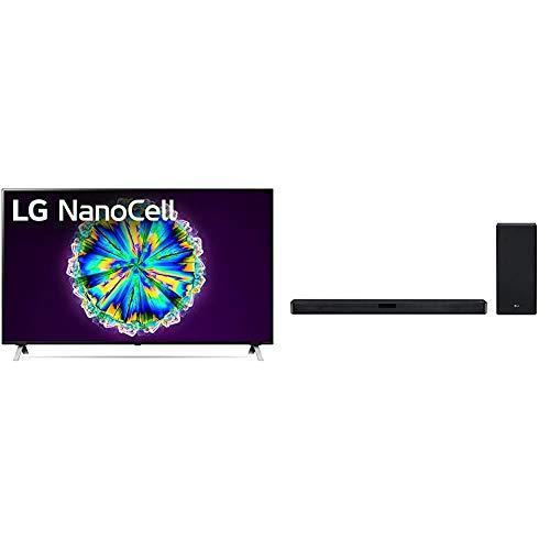 "LG 55NANO85UNA Alexa Built-in NanoCell 85 Series 55"" 4K Smart UHD NanoCell TV (2020) & LG SL5Y 2.1 Channel High Resolution Sound Bar w/DTS Virtual:X, Black"