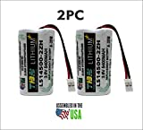 2PC Zurn HydroVantage ZGEN6200EV Battery - LS14500-2ZH / 81681001/2/LS14500-RD REPLACEMENT BATTERY