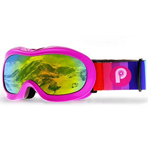 Picador Kids Ski Goggles With Excellent Impact Resistance Anti Fog Lens 100% UV Protection