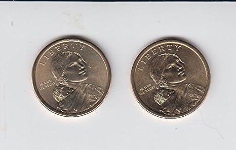 2014 P D Native American Sacagawea//Golden Dollar 2 Coin Set Uncirculated