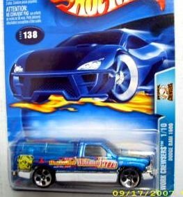 Hot Wheels 2003-138 Work Crewsers Blue Dodge Ram 1500 Highway 35 1:64 - Ram Dodge Wheels Hot