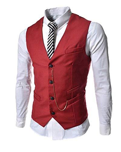 Base Gilet De Loisir Vêtements Hx Mode Rot D'affaires Mariage Confortable Tailles Veste Casual Hommes Costume Y7Rx7H