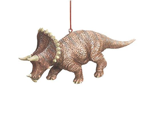 Triceratops Jurassic Dinosaur Resin Stone Christmas Tree Ornament Home Garden Decor Seasonal