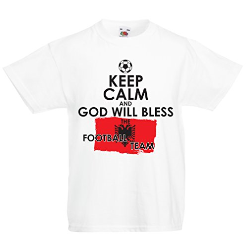 508d27e7c99 Kids Boys/Girls T-Shirt God Will Bless The Albanian National Football Team -