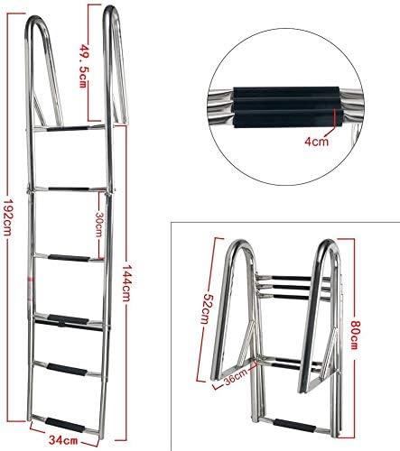 Amarine-made - Escalera telescópica de 6 peldaños para embarcaciones Marinas 4067S: Amazon.es: Deportes y aire libre