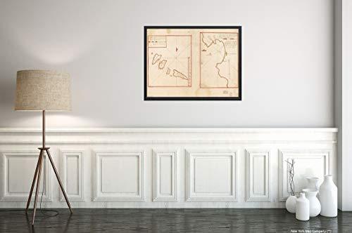1712 Nautical Chart map of Porto Grande Bay (Mindelo Bay) Sao Vicente, Cape Verde|18