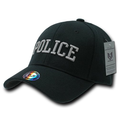 (Rapiddominance Police FitAll Flex Cap, Black, Small/Medium)