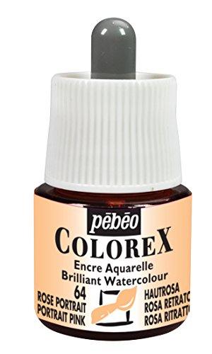 (Pebeo Colorex, Watercolor Ink, 45 ml Bottle with Dropper - Portrait Pink)