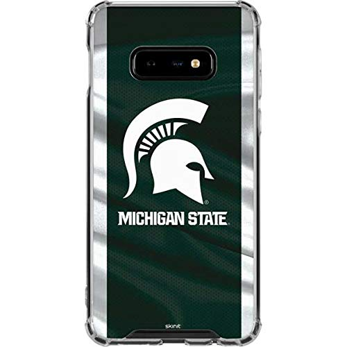 Skinit Michigan State University Away Grey Jersey Galaxy S10e Clear Case - Officially Licensed College Phone Case Clear - Transparent Galaxy S10e - Gray Away Jersey