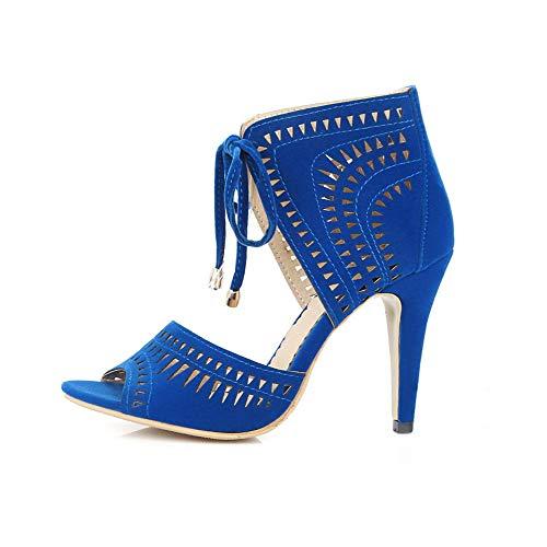 Bleu Ouvert Bout AdeeSu SLC04328 Femme ZqpRzxRTw