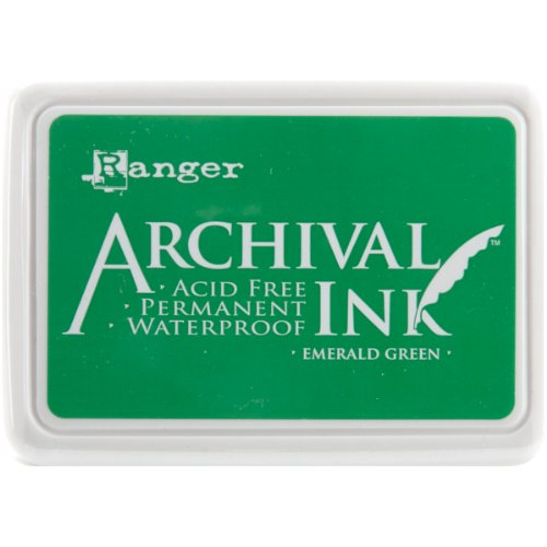 Ranger AIP-30447 Archival Inkpad, Emerald Green by Ranger