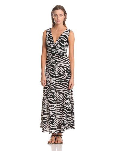 Zebra Print Maxi Dress - 2
