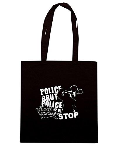 T-Shirtshock - Bolsa para la compra TUM0087 stop police brutality Negro