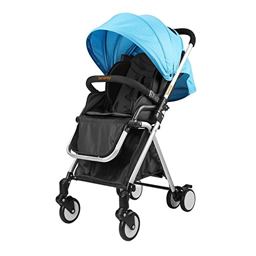 Besrey BR-C7000S Lightweight Baby Stroller (Blue) (Doll Baby Stroller Combo)