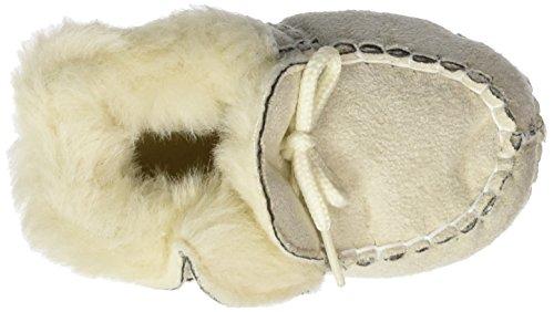 Playshoes Babyschuhe In Lammfell-optik Zum Binden - Zapatillas de casa Bebé-Niños Beige - Beige (Natur 2)