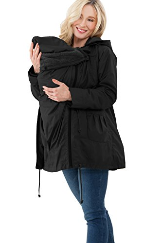 Sweet Mommy Maternity Pregnancy Baby Carrier Babywearing Down Coat Removable Panel