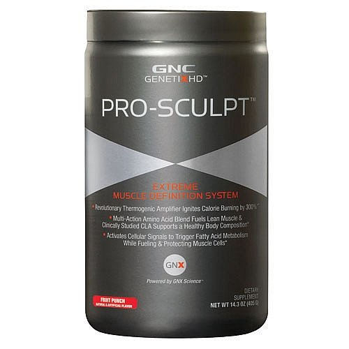GNC GenetixHD Pro-Sculpt Extreme Muscle Definition System, Fruit Punch, 14.3 oz