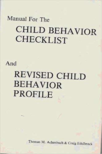 manual for the child behavior checklist and revised child behavior