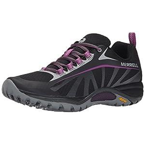Merrell Women's Siren Edge Shoe, Black/Purple, 7 M US