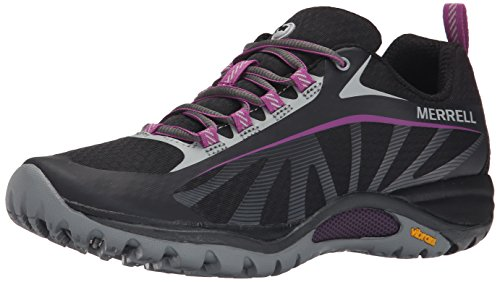 Merrell Women's Siren Edge Shoe, Black/Purple, 7.5 M US ()