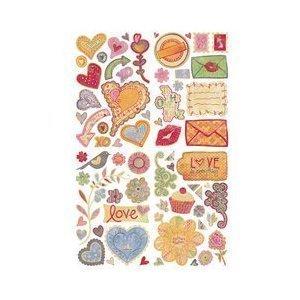BasicGrey Sugar Rush Die-Cut Chip Stickers, 4 Sheets, Shapes