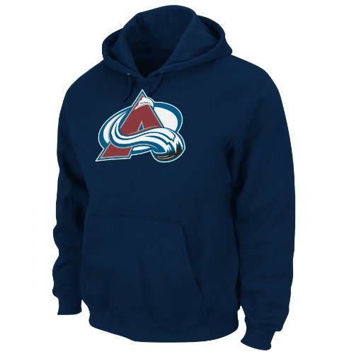 Fleece Colorado Avalanche Pullover (NHL Men's Colorado Avalanche Heat Seal Long Sleeve Hooded Fleece Pullover (Athletic Navy,)