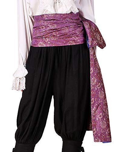 ThePirateDressing Pirate Medieval Renaissance Halloween Cosplay Costume Brocade Large Sash (Brocade# 118, Lined) -