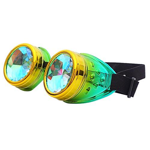 OUBAO Sunglasses Rainbow Lenses Kaleidoscope Lenses Party Glasses -