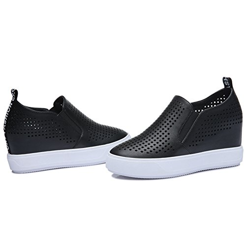 Sneakers Orifice Shoes MAC Side Black Inside Casual Flat U Round Womens Toe Shoes Increased gfF1q