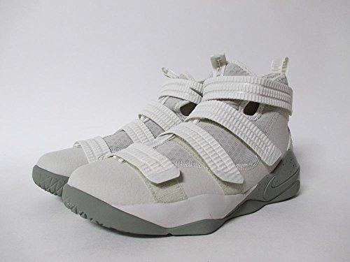 Nike LEBRON SOLDIER XI (GS) girls fashion-sneakers 918369-099_4Y - LIGHT BONE/DARK STUCCO-BLACK by NIKE