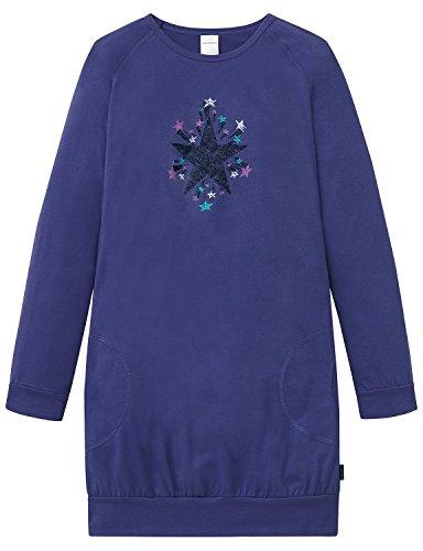 Schiesser Mädchen Nachthemd Sleepshirt 1/1, Blau (Navy 815), 164