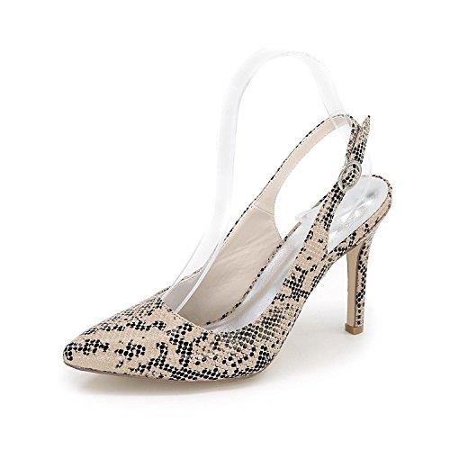L@YC Tacones altos De Las Mujeres Señaló OtoñO Invierno Noche Boda/Fiesta Y Zapatos MáS Colores Disponibles Brown