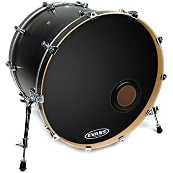 evans eq3 resonant black bass drum head 22 inch musical instruments. Black Bedroom Furniture Sets. Home Design Ideas