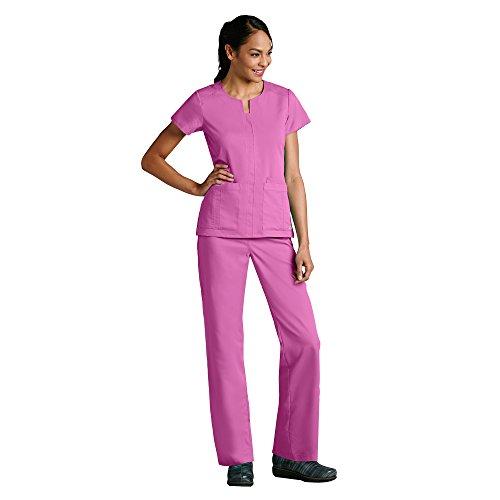 Grey's Anatomy Women's 41445 3 Pocket Notched Neck Top- Bloom- (Jade Scrub Top)