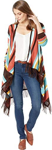Scully Women's Honey Creek by Striped Open Front Sweater Duster Multi ()