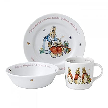 Beatrix Potter Peter Rabbit 3 Piece Girls Dinner Set Cup Plate and Bowl  sc 1 st  Amazon UK & Beatrix Potter Peter Rabbit 3 Piece Girls Dinner Set Cup Plate and ...