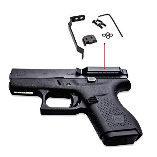 Clipdraw Ambidextrous Concealed Gun Belt Clip for Glock 43 Black