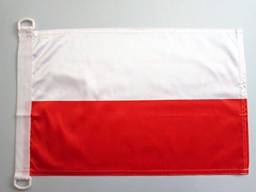 AZ FLAG Bandera Nautica de Polonia 45x30cm - Pabellón de conveniencia POLACA 30 x 45 cm Anillos: Amazon.es: Hogar