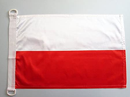 AZ FLAG Bandera Nautica de Polonia 45x30cm - Pabellón de ...
