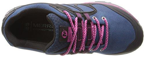 Merrell Verterra de zapatos de trekking impermeables Blue Moon/Rose