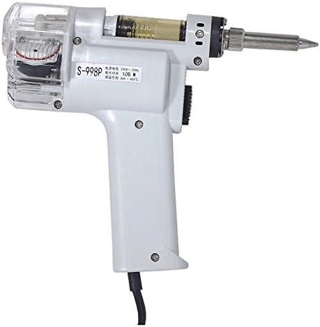 110 V herramienta de soldadura para trabajos de reparaci/ón electr/ónica A-BF S-998P Pistola desoldadora el/éctrica con doble bomba de succi/ón para soldadura 100 W
