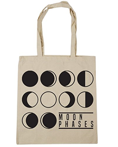 Bag HippoWarehouse Beach Gym Tote 10 x38cm litres Shopping Phases Natural Moon 42cm YnwX1x7HYq