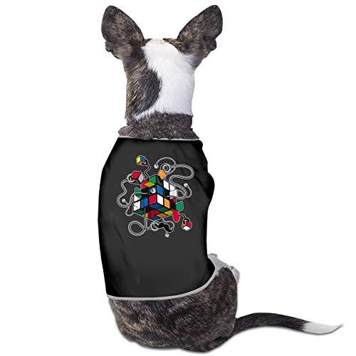 LNUO-2 Pet T-Shirts, Rubiks Cube Dog Cat Vest Costumes -