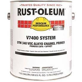 rust-oleum-v7400-system-340-voc-dtm-alkyd-enamel-primer-quick-dry-gray-lot-of-2