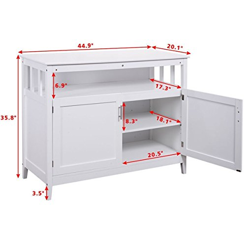 Kitchen Storage Cabinet Buffet Server Table Sideboard