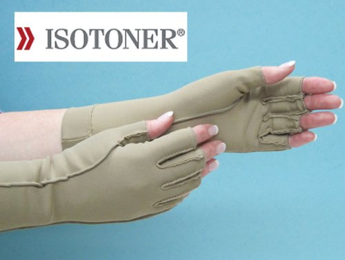 Therapeutic Open-Finger Gloves Size: Medium