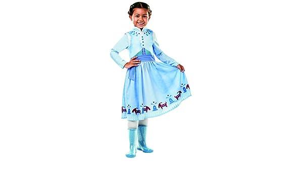Halloweenia Disfraz de Anna Frozen Olaf para niña, Disfraz clásico ...