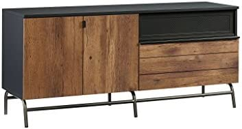 Sauder Boulevard Caf Credenza, For TVs up to 60 , Black finish