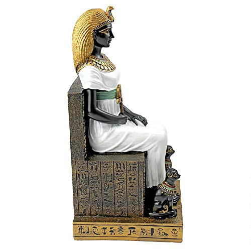 Design Toscano 9 in. Queen Cleopatra on the Throne of Egypt Statue