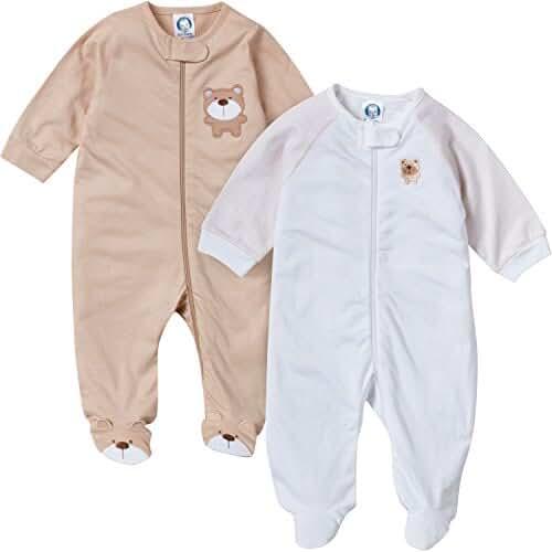 Gerber Baby Boys' 2 Pack Zip Front Sleep 'n Play
